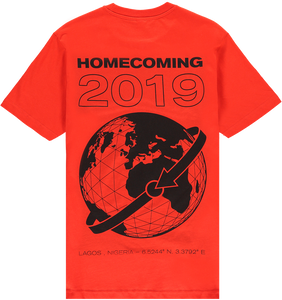 HOMECOMING GLOBE TEE RED