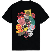 Load image into Gallery viewer, HOMECOMING STICKER TEE BLACK