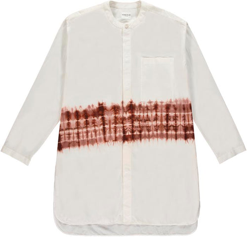 Kenneth Ize Jojo Batik Shirt | White - Burgundy