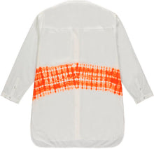 Load image into Gallery viewer, Kenneth Ize Jojo Batik Shirt | White - Orange