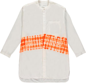 Kenneth Ize Jojo Batik Shirt | White - Orange