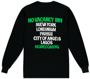 NO VACANCY INN TEE BLACK