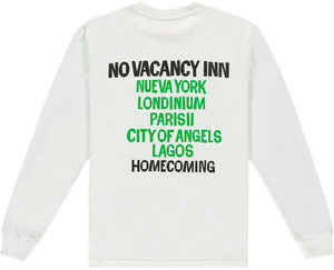 NO VACANCY INN TEE WHITE