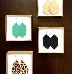 earring subscription monthly dandelion leather