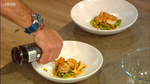 Matt Tebbutt's Roasted Scallops with Seaweed Butter, Sweetcorn, Girolles and Spring Onions
