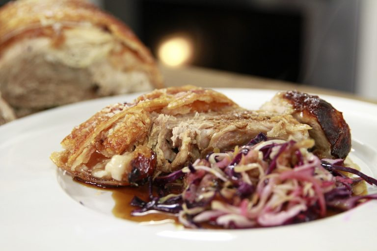 James Martin's Slow Cooked Pork with Soused Cabbage and Apple
