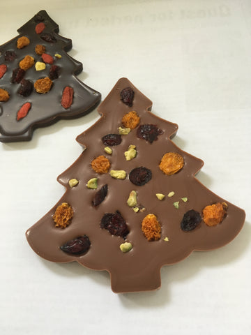 Picture of Swiss Chocolate Christmas Tree made with Fruits & Nuts