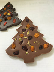 Swiss Chocolate Christmas Tree made with Fruits & Nuts
