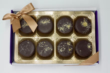 Load image into Gallery viewer, Vegan Dark Chocolate Saffron Pistachio Cup - 8 Piece Gift Box