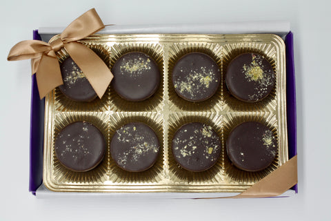 Picture of Vegan Dark Chocolate Saffron Pistachio Cup - 8 Piece Gift Box