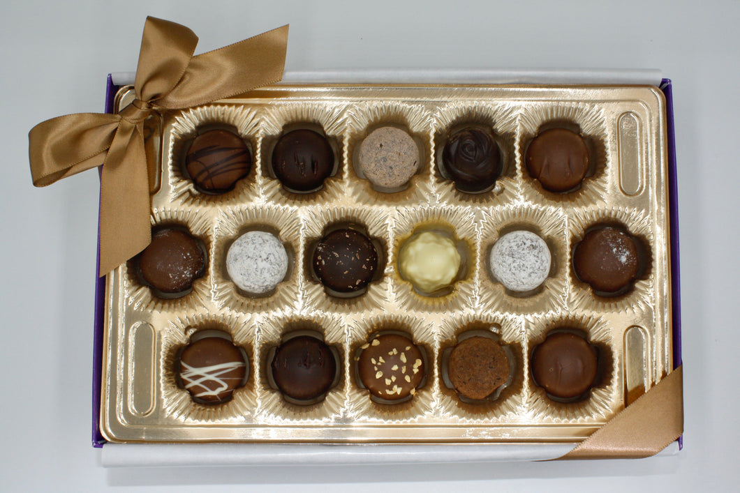 Assorted Truffle Gift Box - 16 Piece