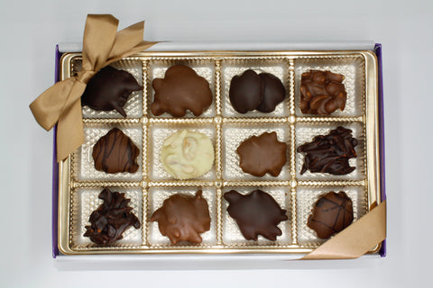 Picture of Assorted Chocolate Nut Cluster Gift Box - 12 Piece