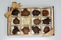 Assorted Chocolate Nut Cluster Gift Box - 12 Piece