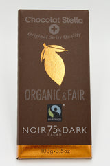 Organic Swiss Dark Chocolate Bar with 75% Cacao