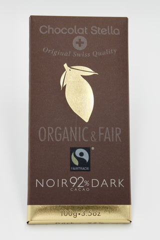 Picture of Organic Swiss Dark Chocolate Bar with 92% Cacao