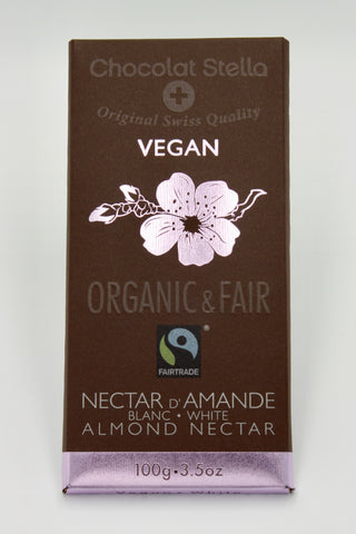 Picture of Organic Fair Trade Vegan White Chocolate Almond Nectar Bar