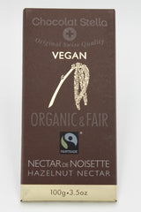 Organic Fair Trade Vegan Hazelnut Nectar Chocolate Bar