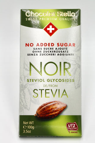 Picture of Swiss Dark Chocolate with Stevia Extract Bar - 53% Cacoa