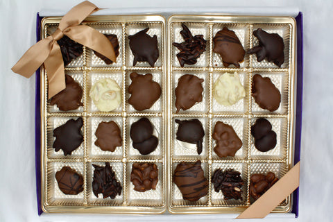 Picture of Assorted Chocolate Nut Cluster Gift Box - 24 Piece