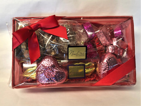 Picture of Valentine's Day Gift Set Features Assorted Chocolate Hearts, Swiss Kisses, and Toffee