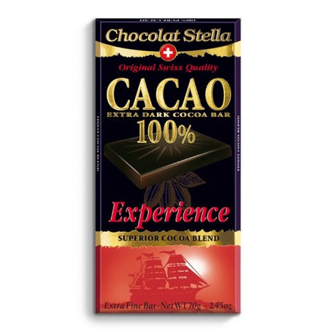 Picture of Swiss Dark Chocolate Experience Bar - 100% Cacoa