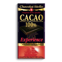 Swiss Dark Chocolate Experience Bar - 100% Cacoa