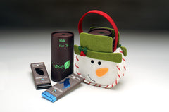 Snowman Snack Tote - Organic Chocolate Bars & Hot Chocolate