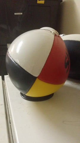 Red/Yellow/Blue Sherrin Aussie Rules Football