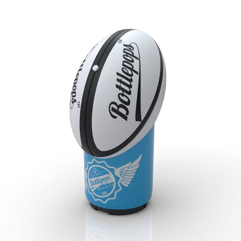 Rugby Bottle Pops bottle openers with a sound file