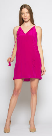 Berry Sleeveless Silk Dress by Lavender Brown - 1
