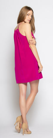 Berry Sleeveless Silk Dress by Lavender Brown - 2
