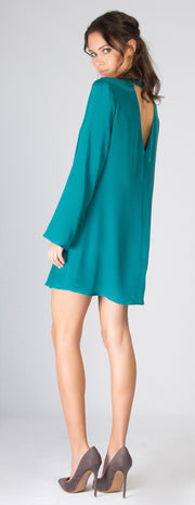 Emerald Green Long Sleeve Dress by Lavender Brown - 2