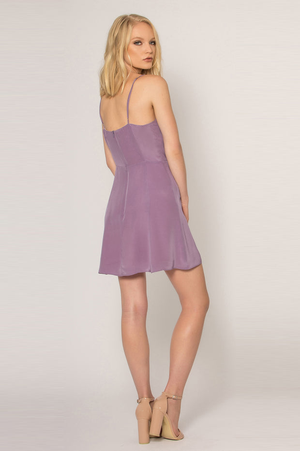 Lavender Backless Silk Shift Dress by Lavender Brown 002