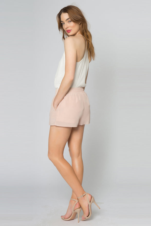 Effortless Easy Pull on Basic Silk Shorts 02