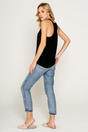 BASIC MUST HAVE SILK TANK-Tops-Lavender Brown