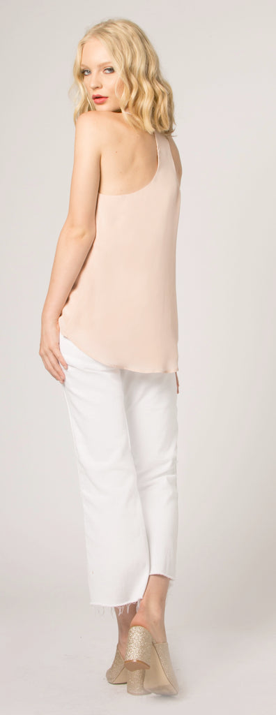Light Pink Racerback Cami Tank Top by Lavender Brown - 2
