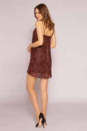 Burgundy Velvet Burnout Dress by Lavender Brown 002