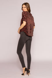 Burgundy Velvet Burnout Top by Lavender Brown 002
