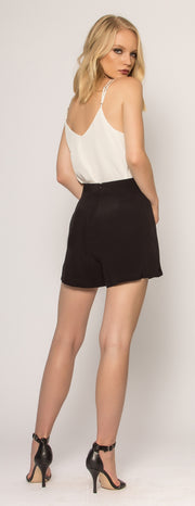 Black High Waist Shorts by Lavender Brown - 2