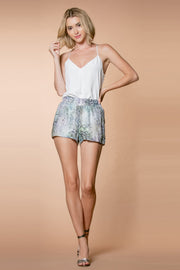 Aqua Rayon Snakeskin Pull-On Shorts 001