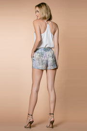 Aqua Rayon Snakeskin Pull-On Shorts 002