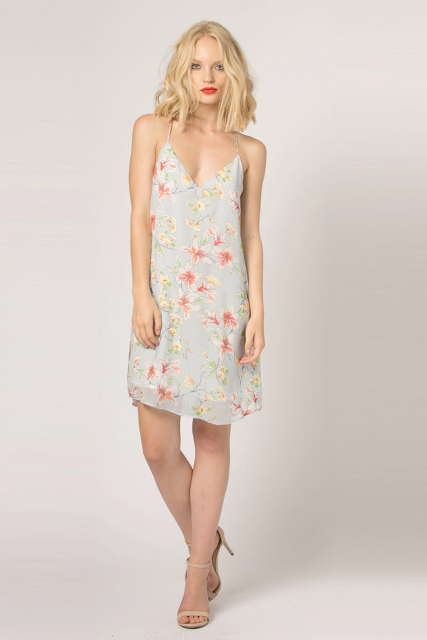 Baby Blue Floral Cami Slip Dress by Lavender Brown 001