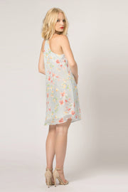 Baby Blue Floral Cami Slip Dress by Lavender Brown 002
