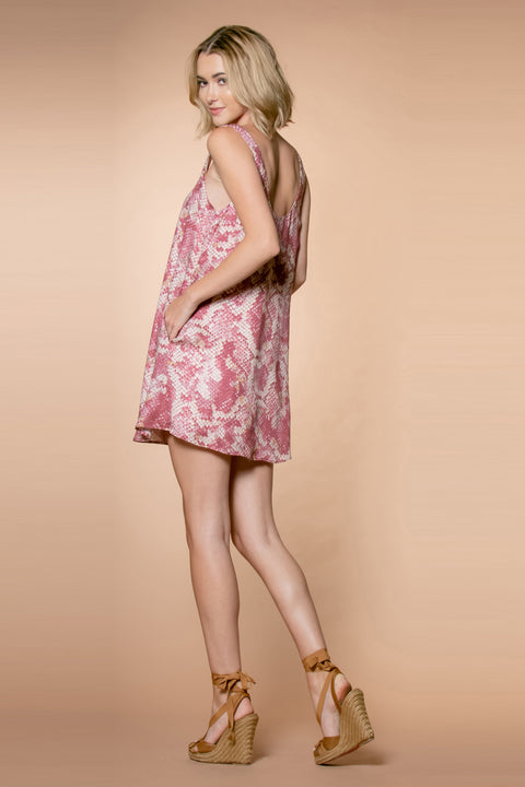 Mauve Snakeskin Mini Tank Dress by Lavender Brown 002