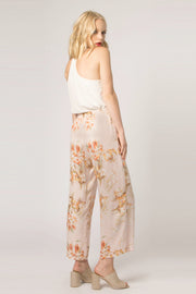 Blush High Waist Floral Pull-On Pants by Lavender Brown 002