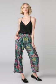 Black High Waist Floral Pants by Lavender Brown 001