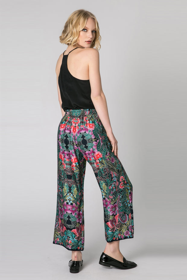 Black High Waist Floral Pants by Lavender Brown 002
