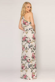 Ivory Floral Wrap Maxi Tank Dress by Lavender Brown 002