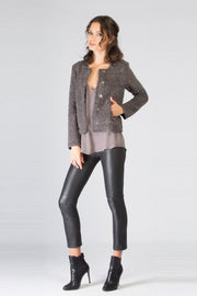 Slate Grey Princess Stretch Wool Jacket by Lavender Brown 001