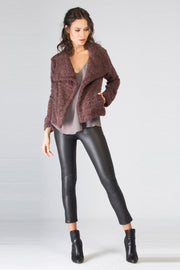 Dark Burgundy Wool Jacket by Lavender Brown 001